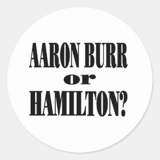 ¿Rebabas o Hamilton? Pegatinas Redondas