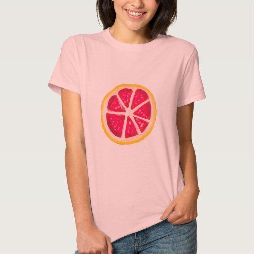 Rebanada amarilla del pomelo de la fruta cítrica d playeras