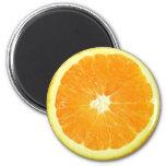 Rebanada anaranjada imán de frigorífico