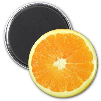 Rebanada anaranjada imán redondo 5 cm