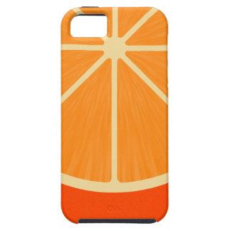 Rebanada anaranjada iPhone 5 carcasas