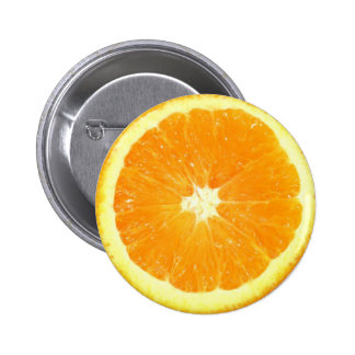 Rebanada anaranjada pin redondo 5 cm