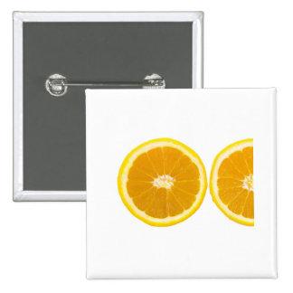 rebanada anaranjada pin cuadrada 5 cm