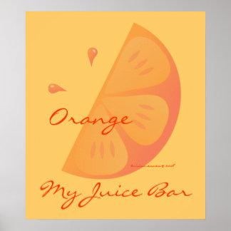 Rebanada anaranjada póster