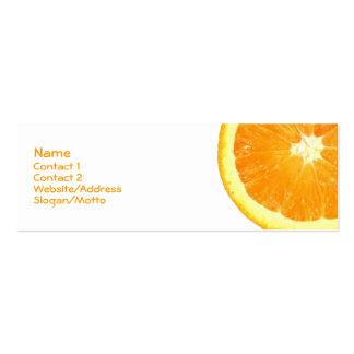 Rebanada anaranjada tarjetas de visita mini