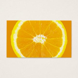 rebanada anaranjada tarjeta de negocios