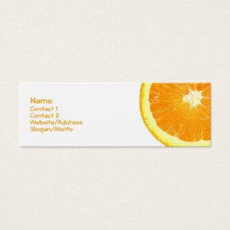 Rebanada anaranjada tarjeta de visita pequeña