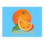 Rebanada anaranjada y anaranjada postales