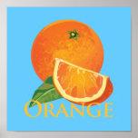 Rebanada anaranjada y anaranjada poster