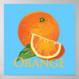 Rebanada anaranjada y anaranjada póster