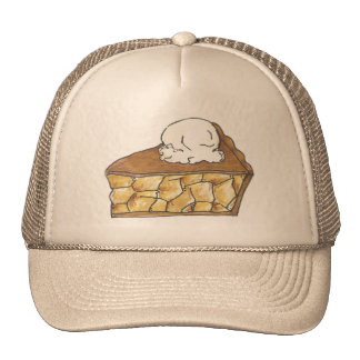 Rebanada cocida de la empanada de Apple un gorra