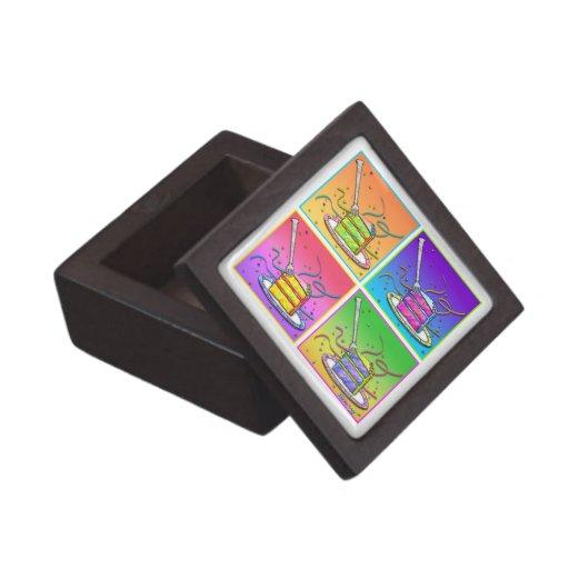 Rebanada de caja de regalo superior de la torta caja de joyas de calidad