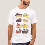 Rebanada de camiseta de Foodie del pastel de queso