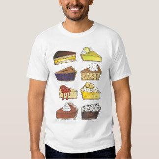 Rebanada de camiseta de Foodie del pastel de queso Remeras