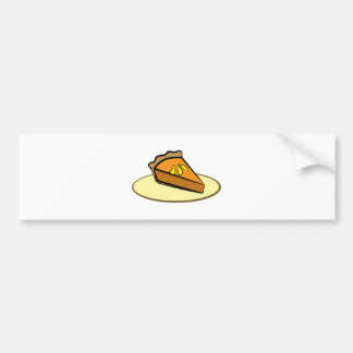 Rebanada de empanada pegatina de parachoque