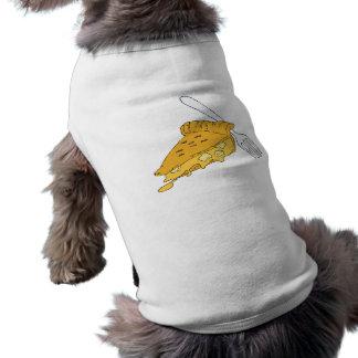 rebanada de empanada de manzana playera sin mangas para perro