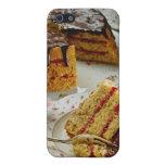 Rebanada de flores del pastel de capas iPhone 5 funda