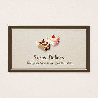 Rebanada de fresa del chocolate de las tortas - tarjeta de negocios