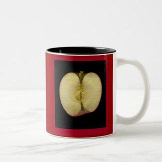 rebanada de la manzana taza de dos tonos