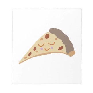 Rebanada de la pizza libretas para notas