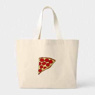 Rebanada de la pizza bolsa tela grande
