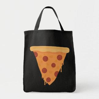 Rebanada de la pizza bolsa tela para la compra