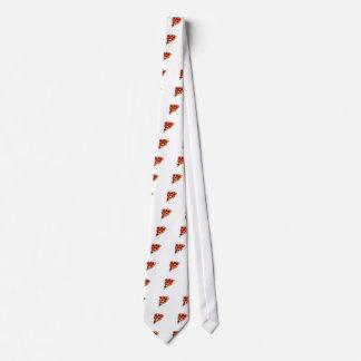 Rebanada de la pizza corbatas