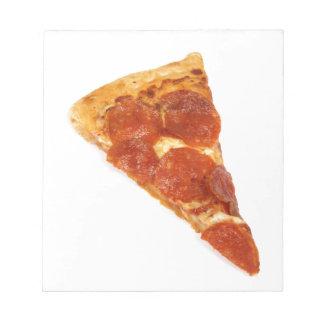Rebanada de la pizza de salchichones bloc