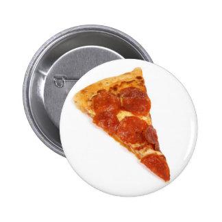 Rebanada de la pizza de salchichones pin