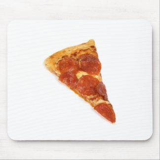 Rebanada de la pizza de salchichones alfombrillas de raton