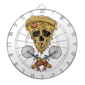 rebanada de la pizza del cráneo