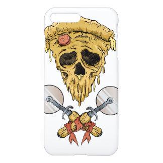 rebanada de la pizza del cráneo funda para iPhone 7 plus
