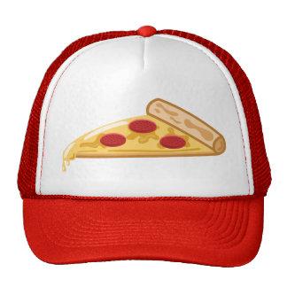 Rebanada de la pizza del dibujo animado gorra