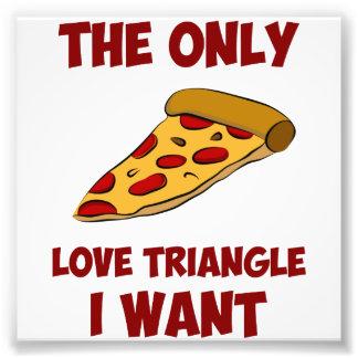 Rebanada de la pizza - el único triángulo de amor cojinete