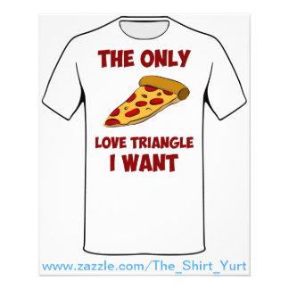 """Rebanada de la pizza - el único triángulo de amor  folleto 4.5"""" x 5.6"""""""
