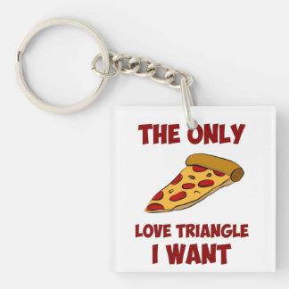 Rebanada de la pizza - el único triángulo de amor  llavero cuadrado acrílico a doble cara