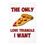 Rebanada de la pizza - el único triángulo de amor  papeleria personalizada