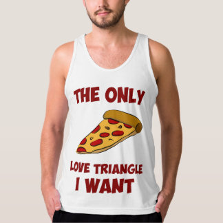 Rebanada de la pizza - el único triángulo de amor playeras de tirantes
