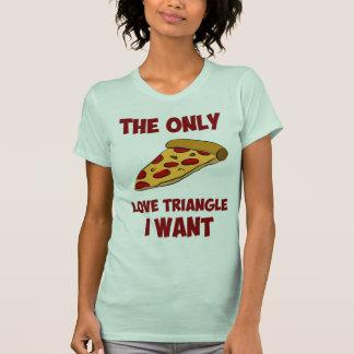 Rebanada de la pizza - el único triángulo de amor poleras