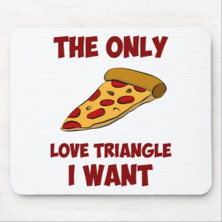 Rebanada de la pizza - el único triángulo de amor  tapetes de raton