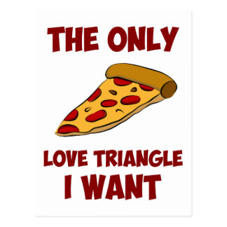 Rebanada de la pizza - el único triángulo de amor tarjeta postal