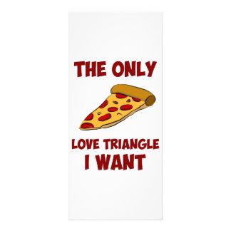 Rebanada de la pizza - el único triángulo de amor  tarjetas publicitarias a todo color