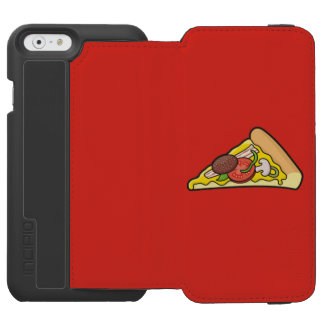 Rebanada de la pizza funda billetera para iPhone 6 watson