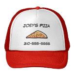 Rebanada de la pizza gorras