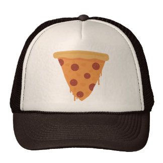 Rebanada de la pizza gorro de camionero
