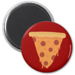 Rebanada de la pizza imán para frigorifico