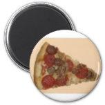Rebanada de la pizza imanes de nevera