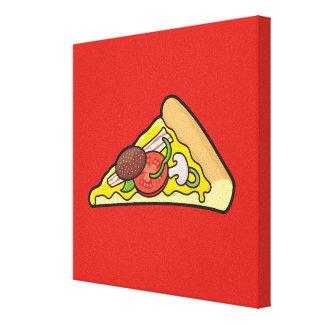 Rebanada de la pizza impresión en lona