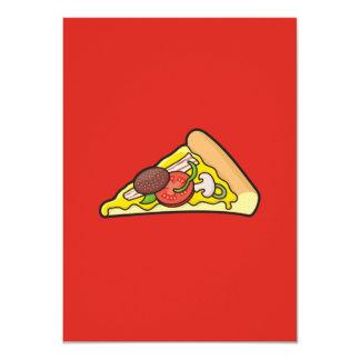 """Rebanada de la pizza invitación 4.5"""" x 6.25"""""""