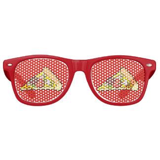 Rebanada de la pizza lentes de sol